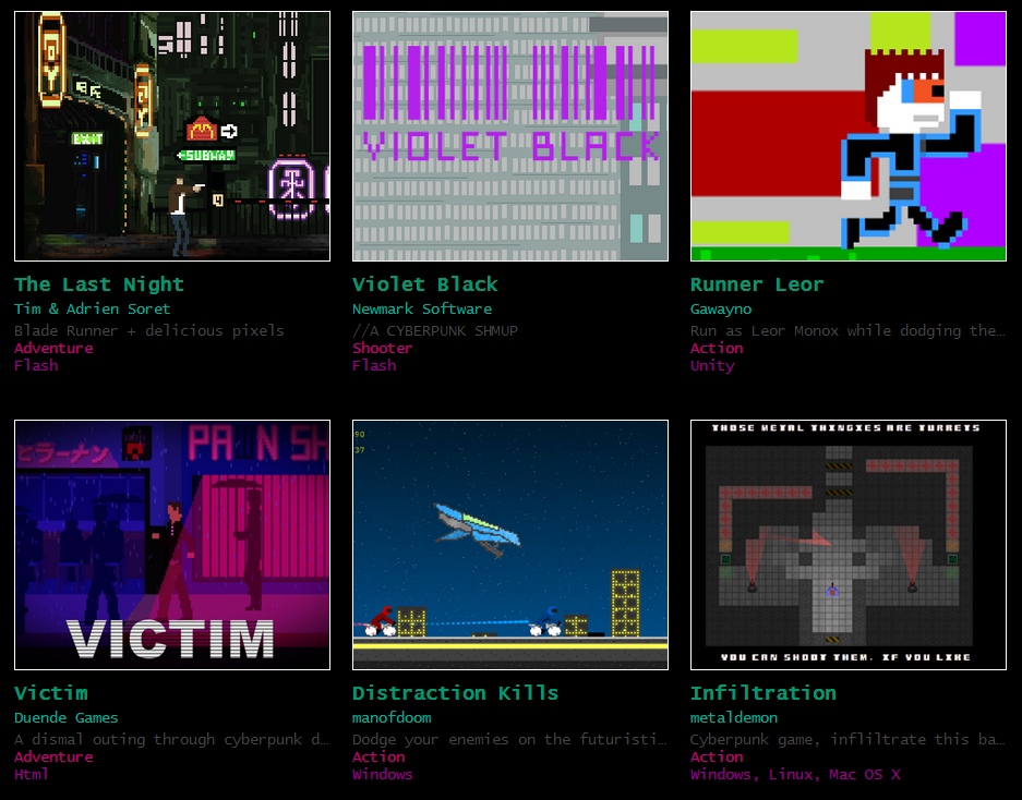 #CyberpunkJam itch.io screenshot