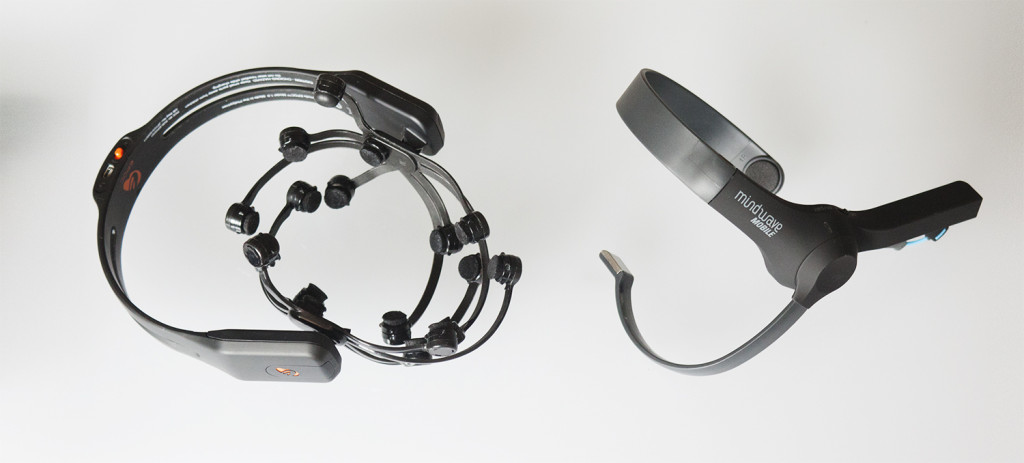EEG systems Emotiv Epoc and Neurosky Mindwave sensors by ENTD and Co-de-iT