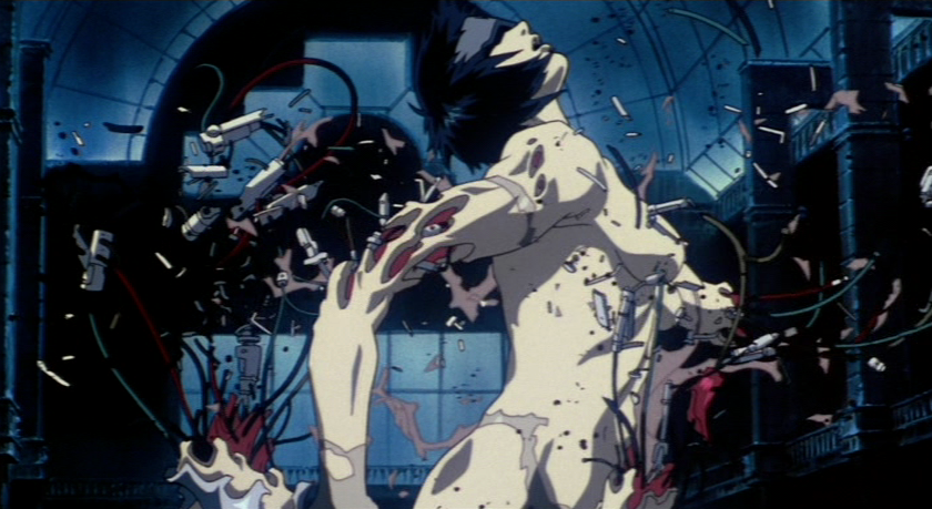 Motoko Kusanagi in Ghost in the Shell by Mamoru Oshii