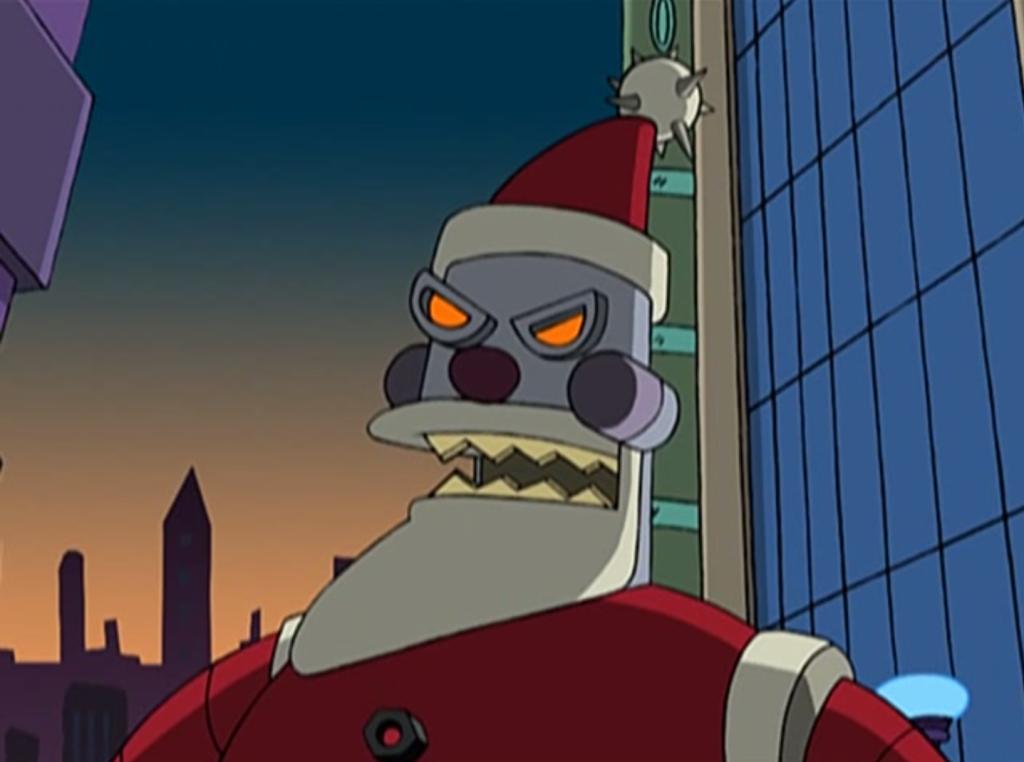 Cyberpunk Futurama Santa
