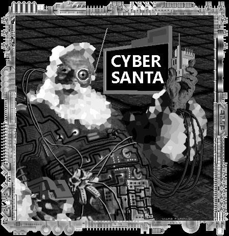 Cyberpunk Santa