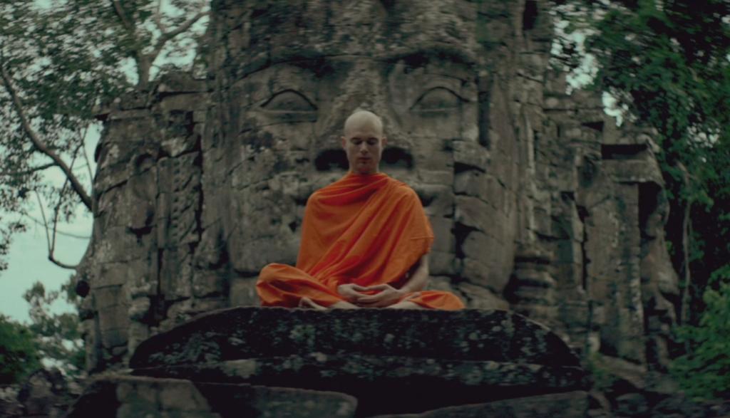 listening buddist monk