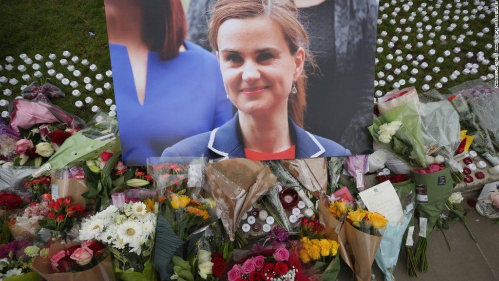 Memorial for MP Jo Cox following her murder.