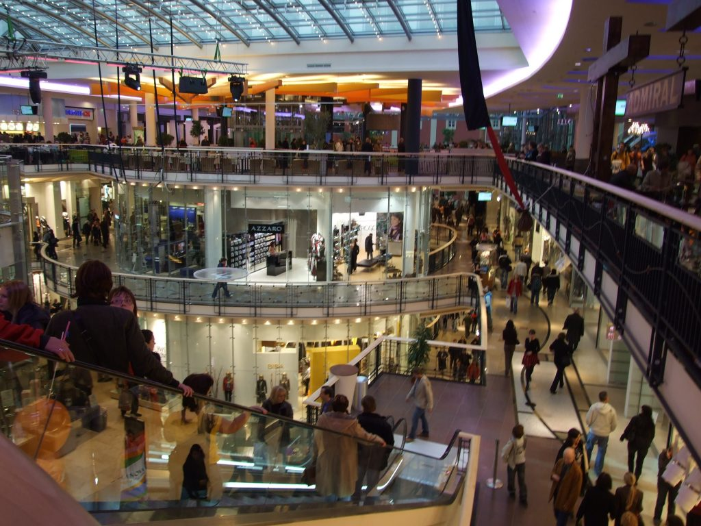 Palladium Mall in Prague which houses more than 200 shops in one location.