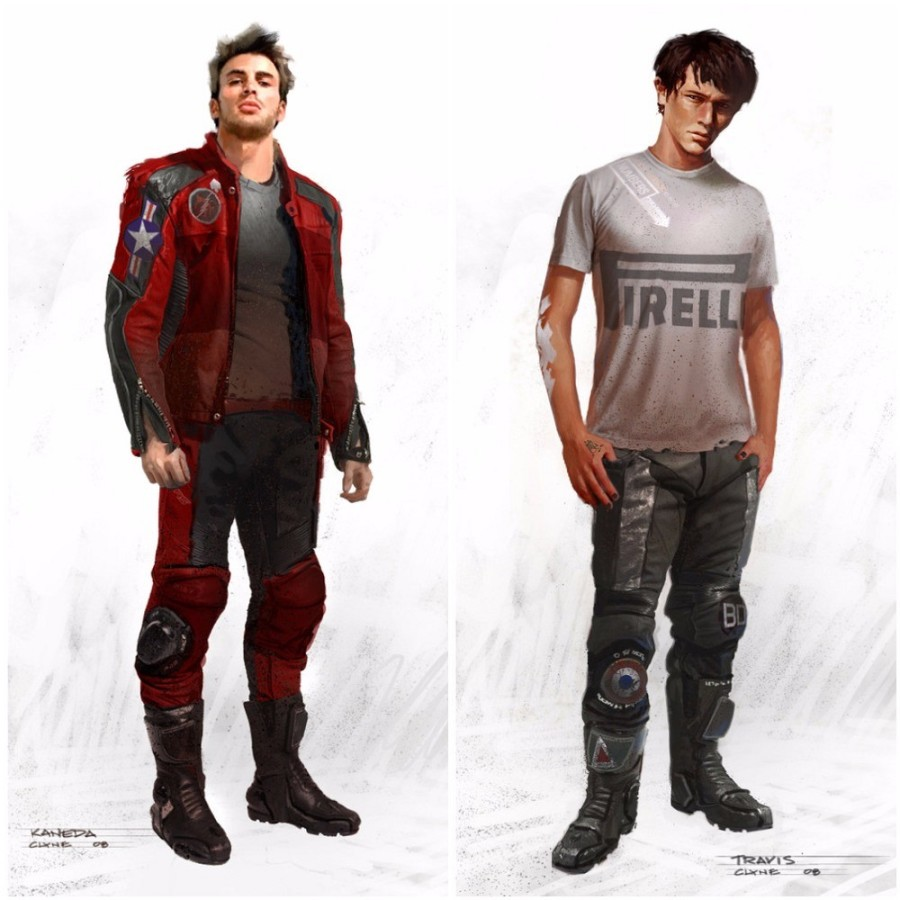 Chris Evans and Joseph Gordon Levitt as Stars of Akira