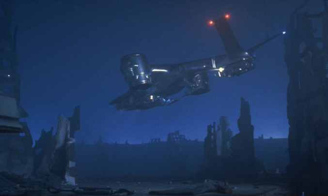 Skynet Hunter Killer from Terminator