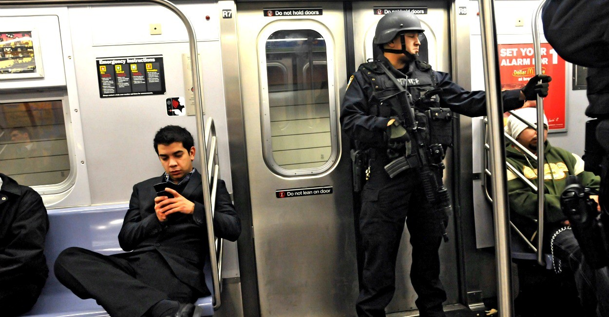 NYPD on the subway