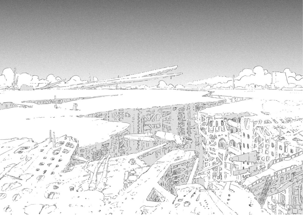 The Town of the Constuctors in classic Tsutomu Nihei style.