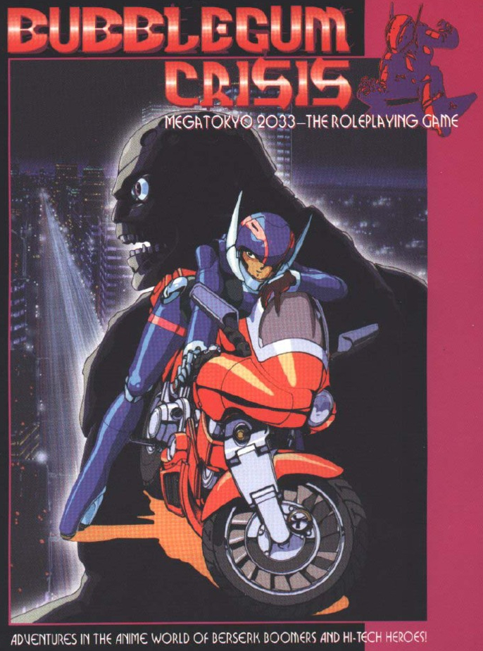 Bubblegum Crisis Roleplaying Game Cover