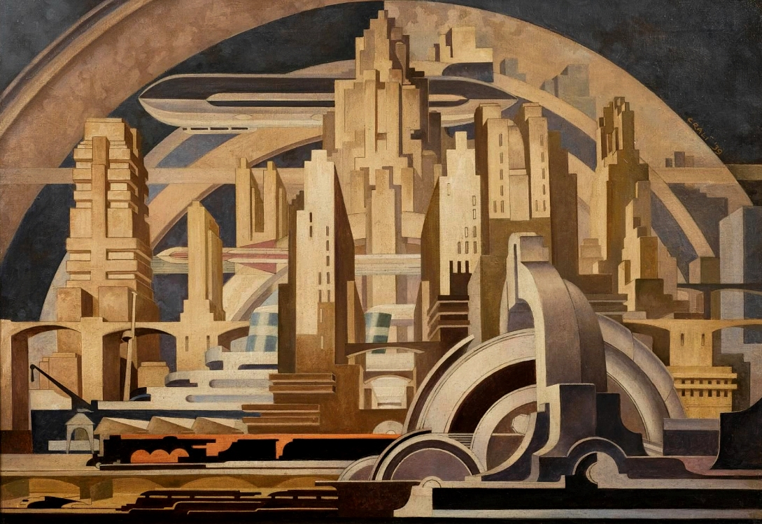 """Cityscape"", by Tullio Crali"