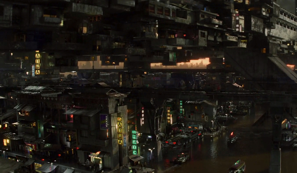 total recall 2012 colony cityscape