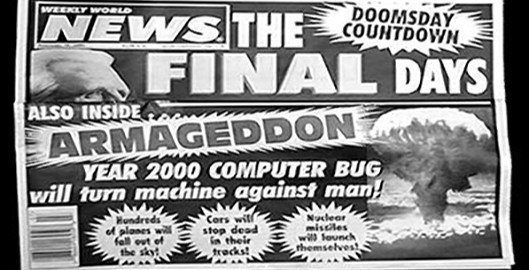 Front page of the infamous Weekly World News, circa 1999.